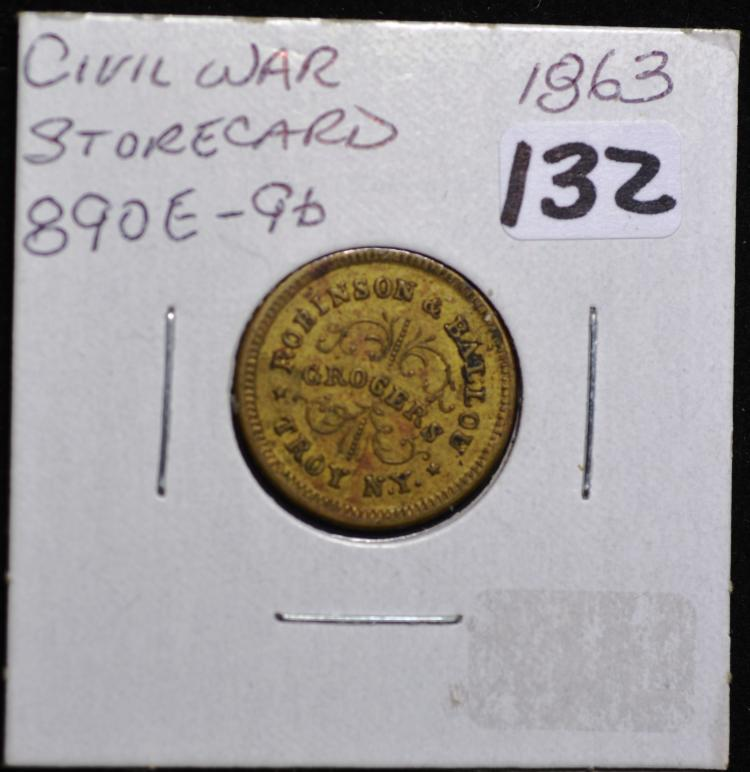 1863 Civil War Store card