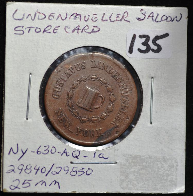 Civil War Store Card Lindenmueller Saloon