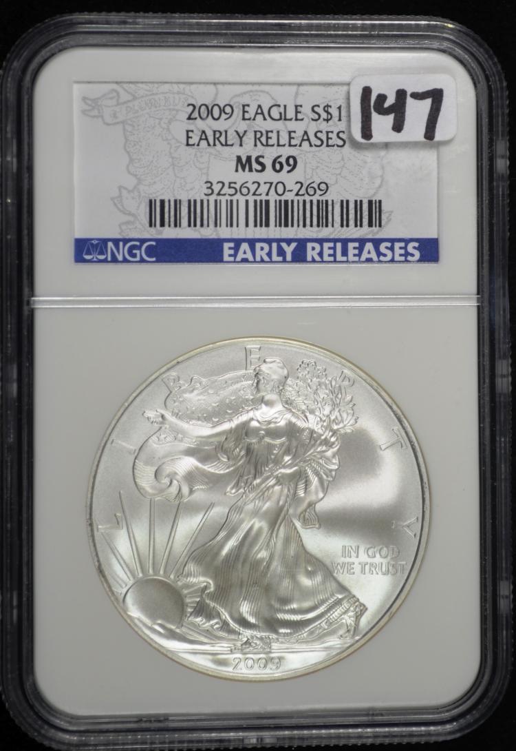 2009 American Eagle MS69 NGC ER
