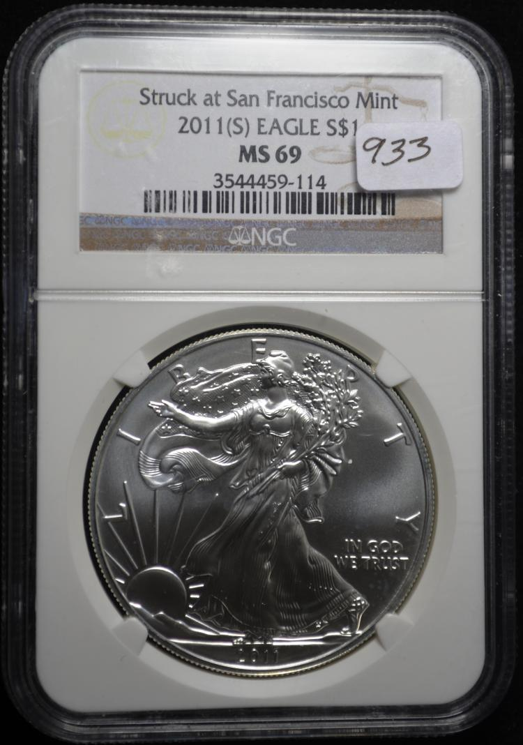 2011-S Silver Eagle MS69 NGC