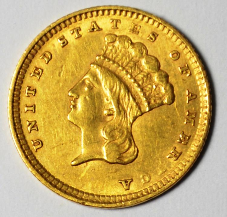 1857 Type 3 $1 Gold