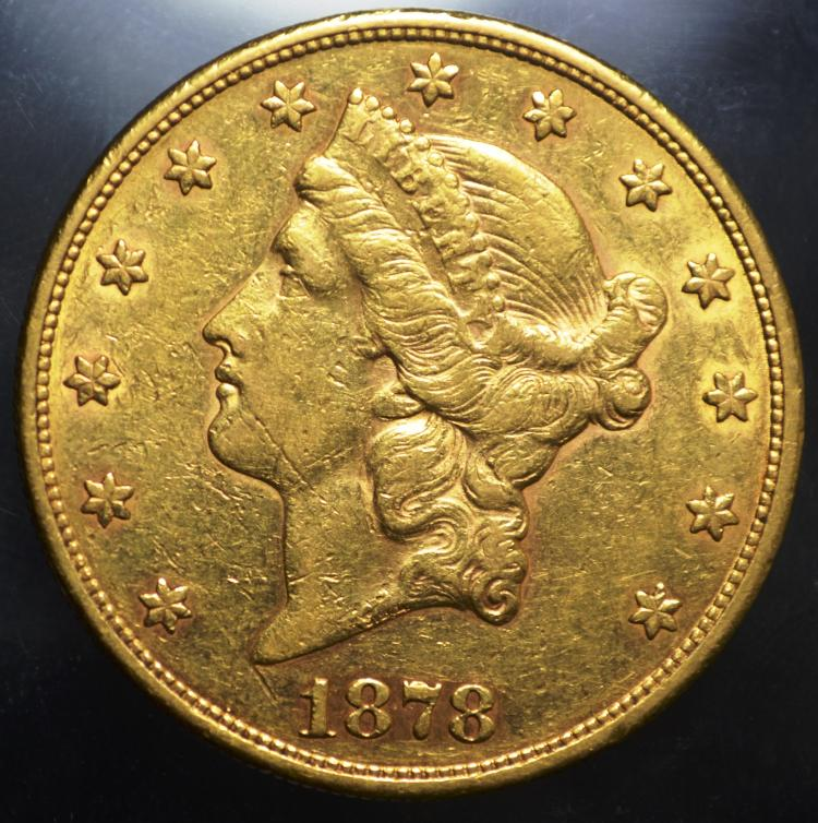 1878-S $20 Liberty Gold Double Eagle