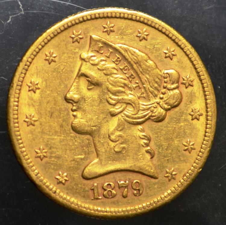 1879-S $5 Liberty Gold