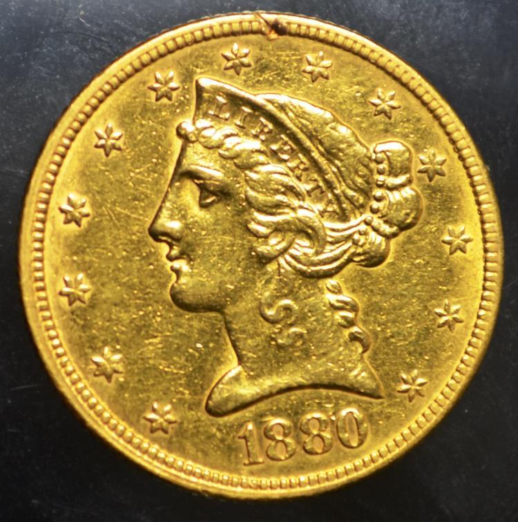 1880 $5 Liberty Gold