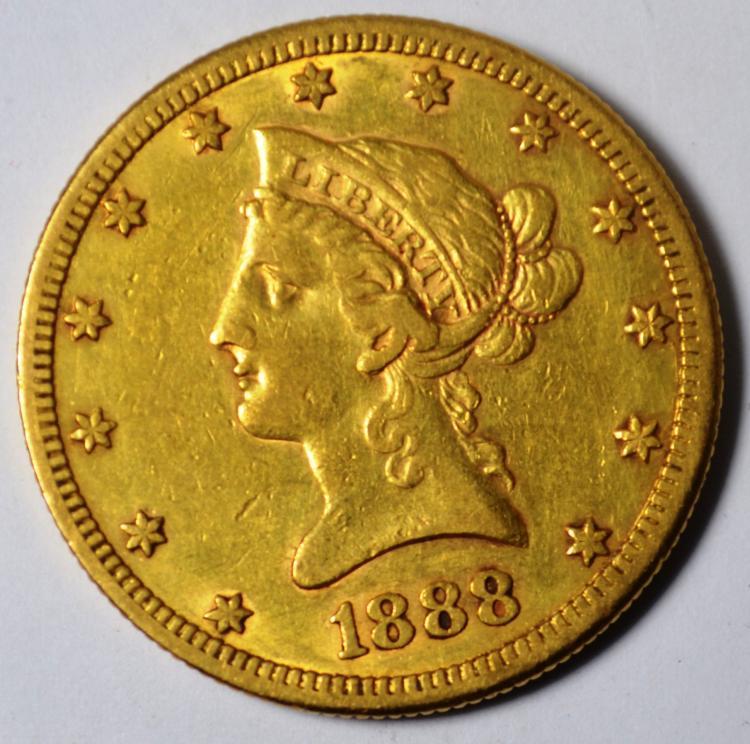 1888-S $10 Gold Liberty