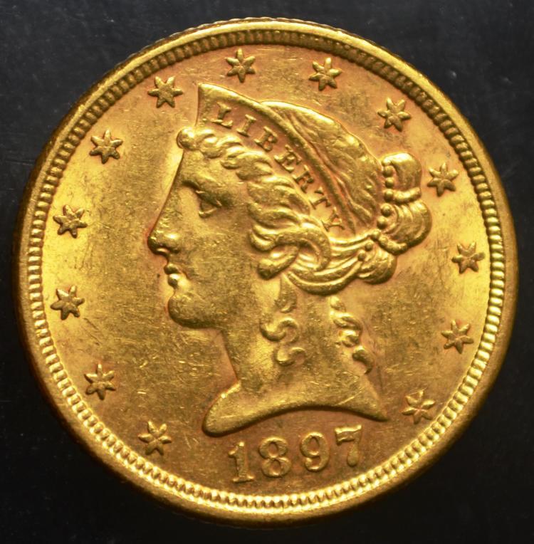 1897 $5 Liberty Gold