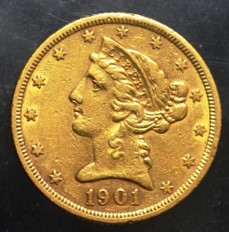 1901-S $5 Liberty Gold