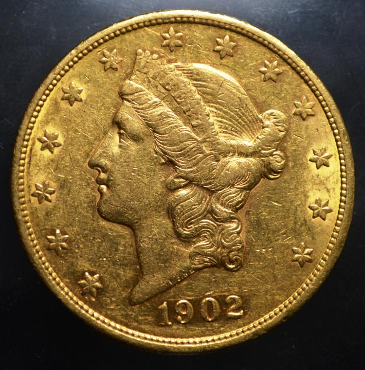 1902-S $20 Liberty  Gold  Double Eagle