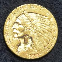 1928 $2.50 Gold Indian