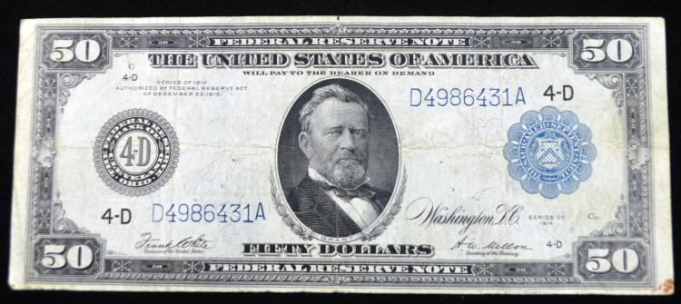 1914 $50 FRN Large Size