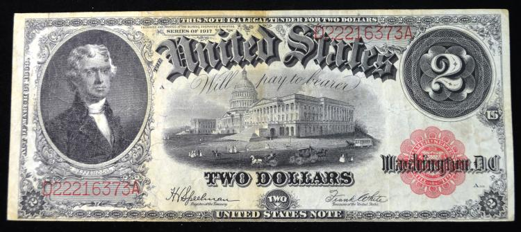 1917 $2 United States Note Large Size