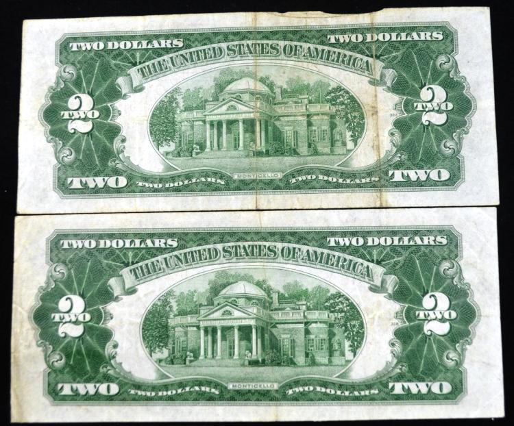 2 1928D $2 Red Seal Notes