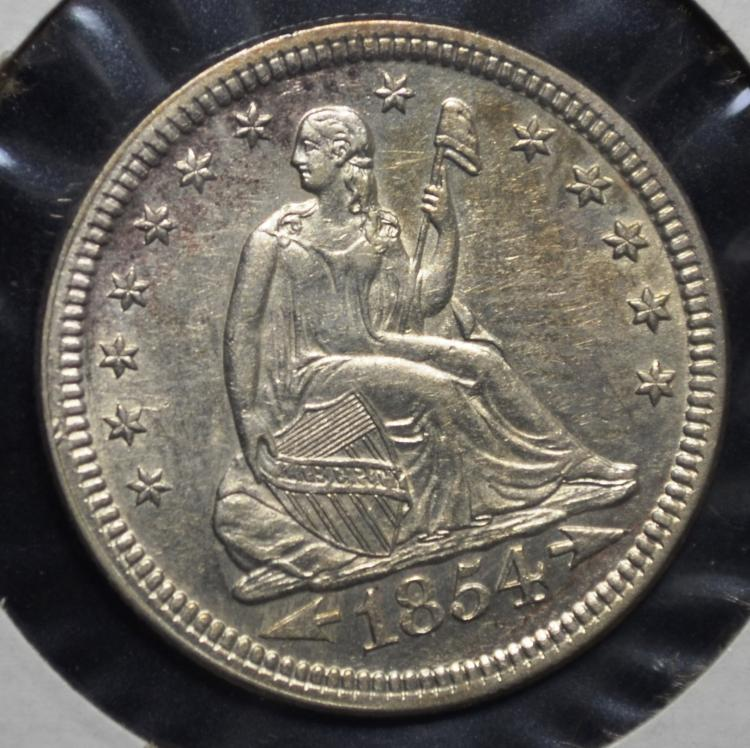 1854 Seated Liberty Quarter
