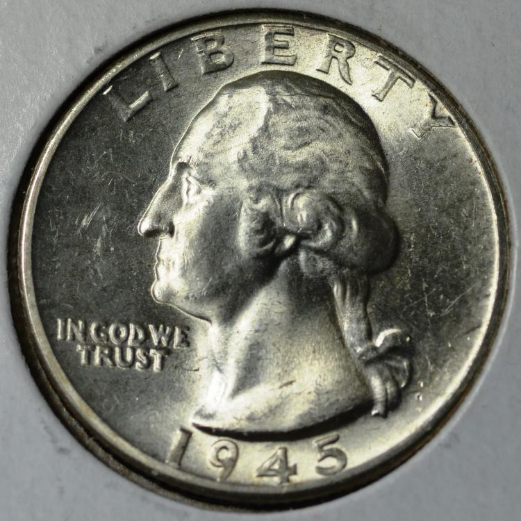 1945-D Washington Quarter