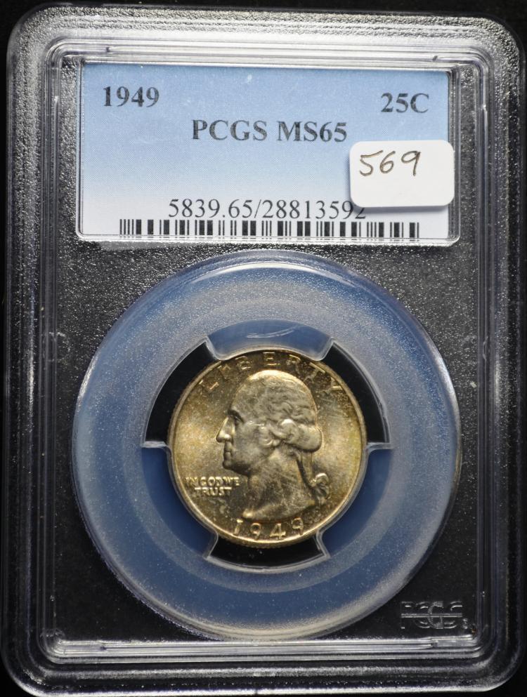 1949 Washington Quarter MS-65 PCGS