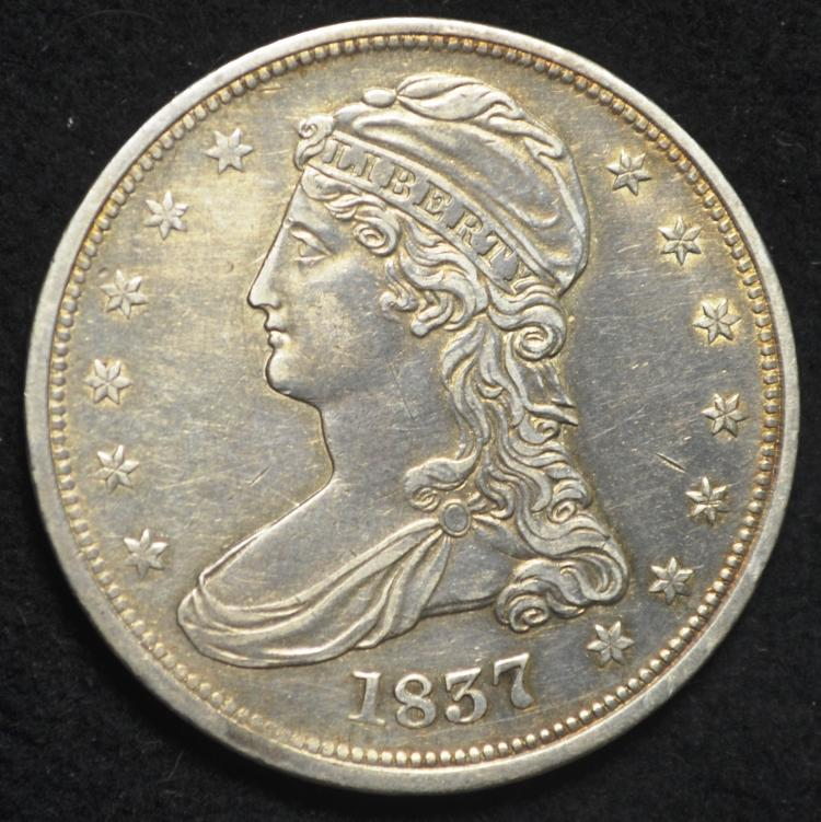 1837 Capped Bust, Reeded Edge Half Dollar