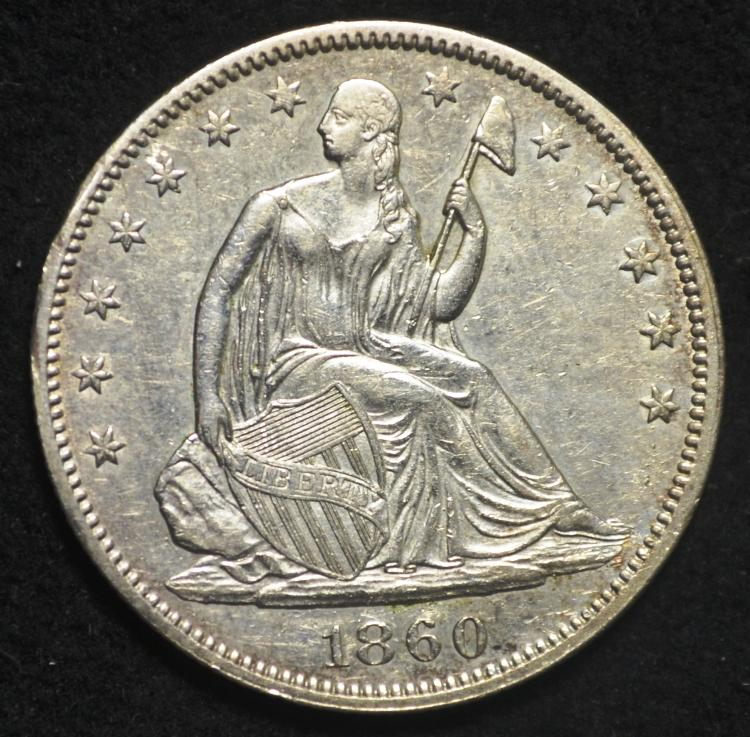 1860 Seated Liberty Half Dollar