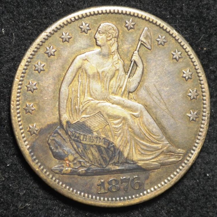 1876-CC Seated Liberty Half Dollar