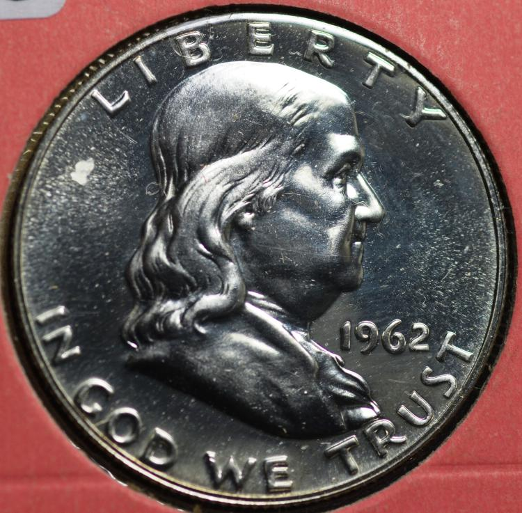 1962 Proof Franklin Half Dollar