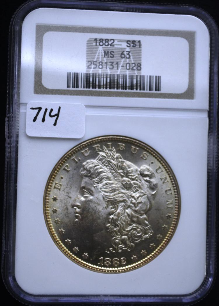 1882 Morgan Silver Dollar MS-63 NGC