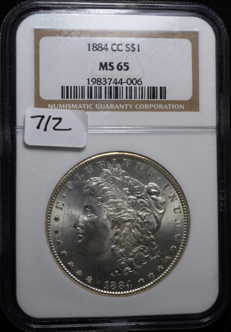 1884-CC Morgan Silver Dollar MS-65 NGC