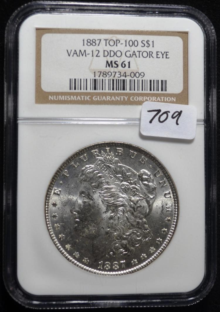 1887 Morgan Dollar VAM-12