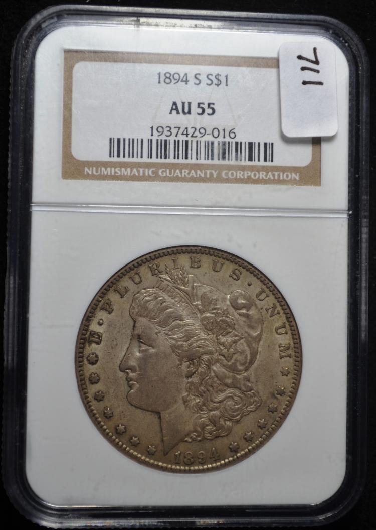 1894-S Morgan Silver Dollar AU-55 NGC