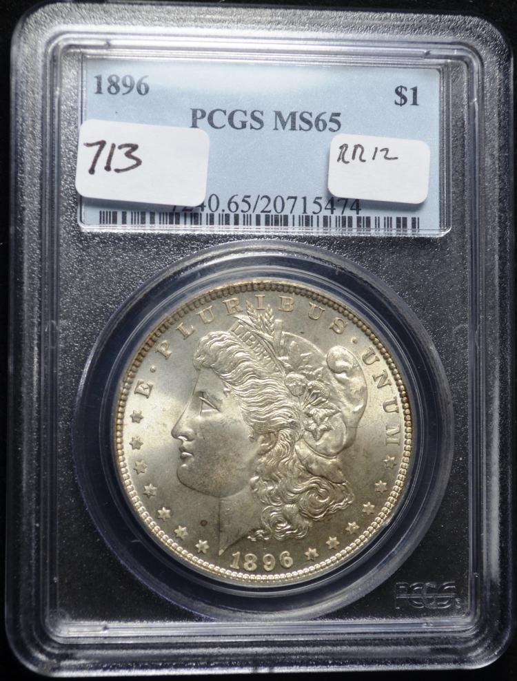 1896 Morgan Silver Dollar MS-65 PCGS