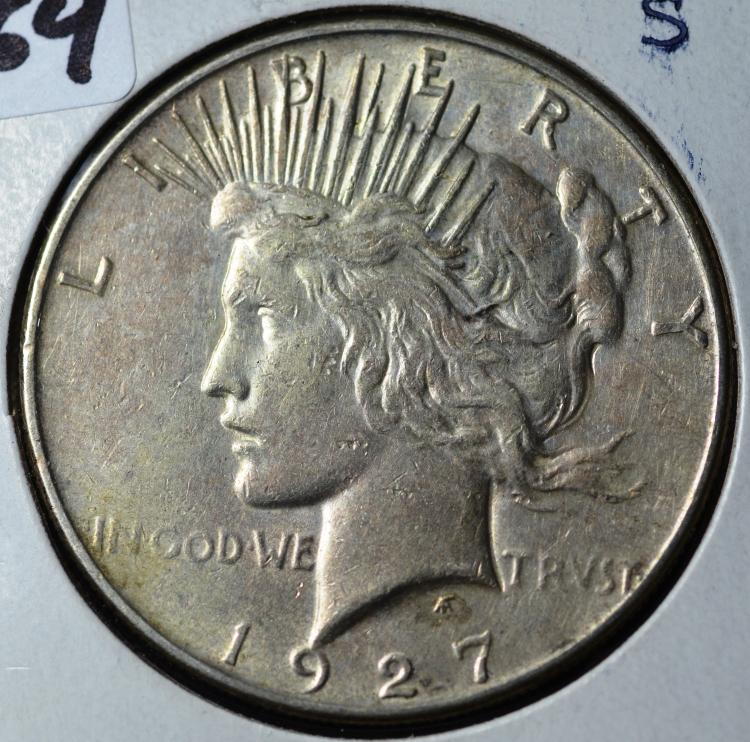 1927-S Peace Silver Dollar
