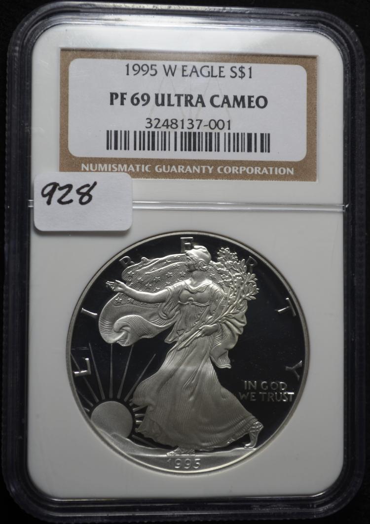 1995-W PF69 Ultra Cameo Silver Eagle