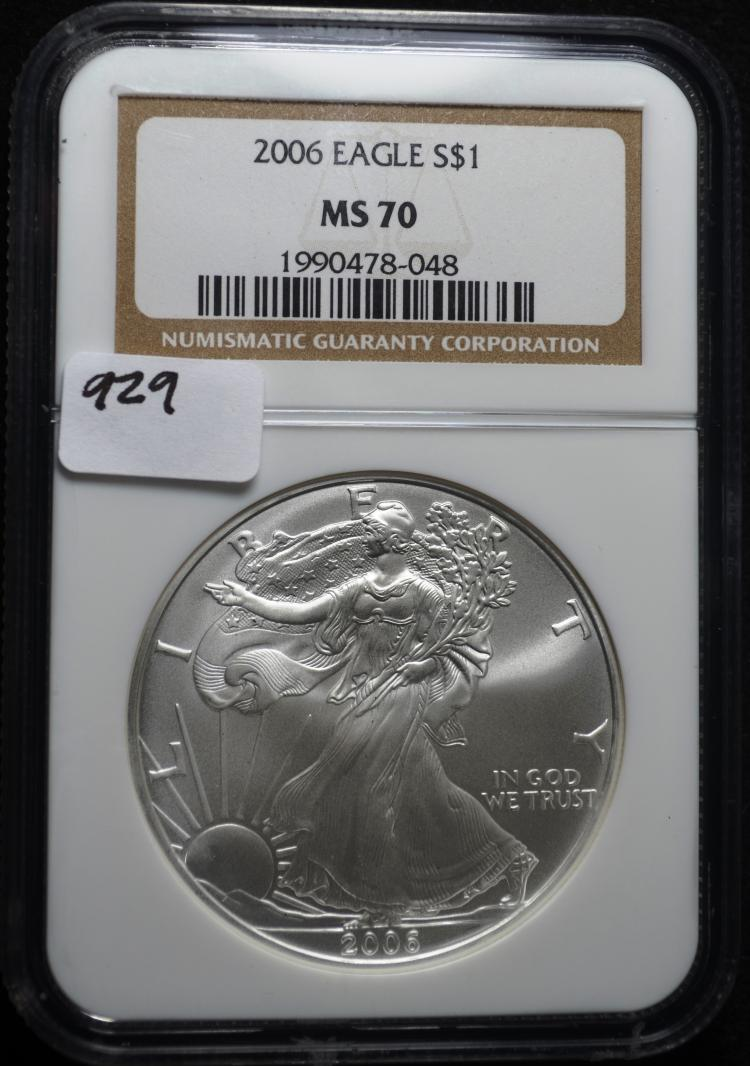 2006 Silver Eagle MS70 NGC