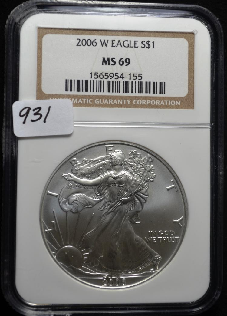 2006-W Silver Eagle MS69 NGC