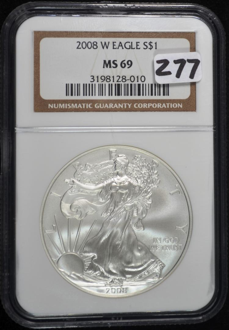 2008-W Burnished American Eagle MS69 NGC