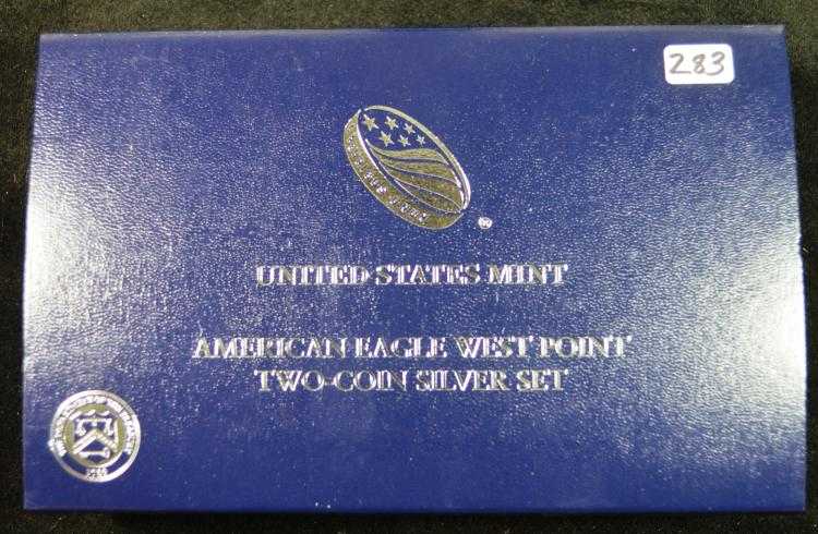 2013 2 Piece Silver eagle West Point Set