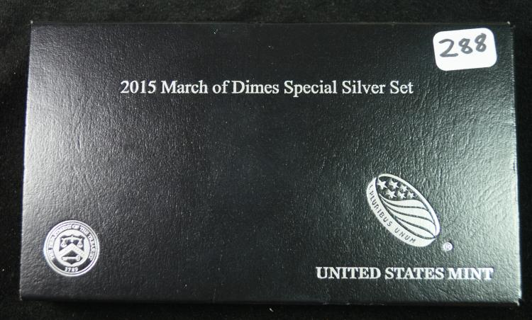 2015 March of Dimes US Mint 3pc Special Silver