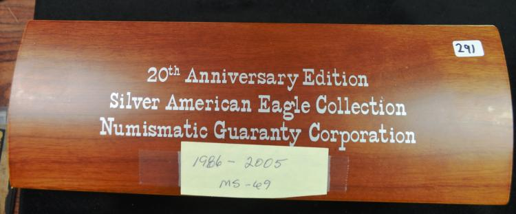 20th Anniv. Silver Eagle Set MS69 20 Coins