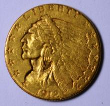 1912 $2.50 Gold Indian