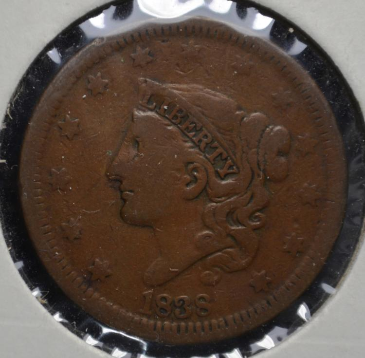 1838 Coronet Head Large Cent