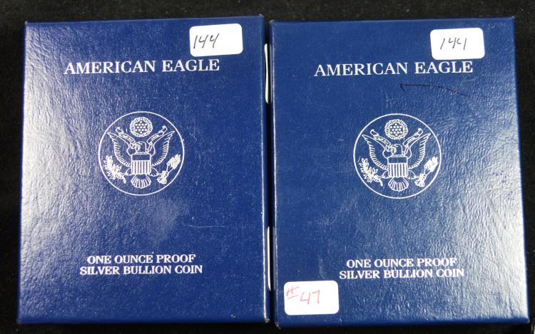 2003 & 2004 Proof Silver Eagles