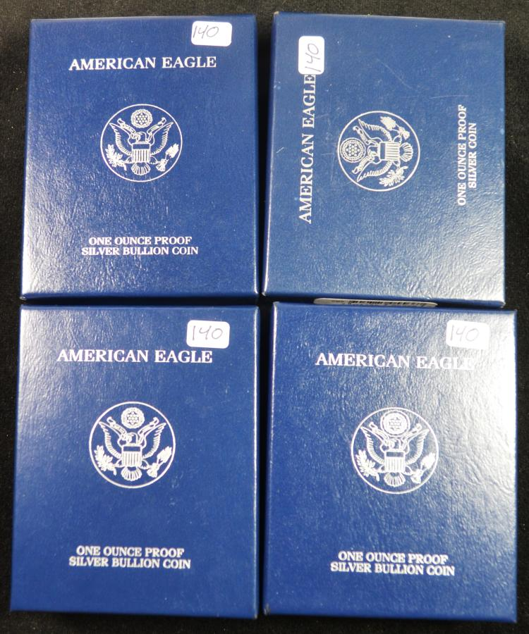 4 Proof Silver Eagles 2003-2006