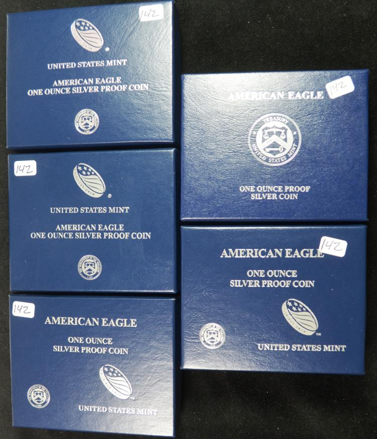 5 Proof Silver Eagles 2011-2015
