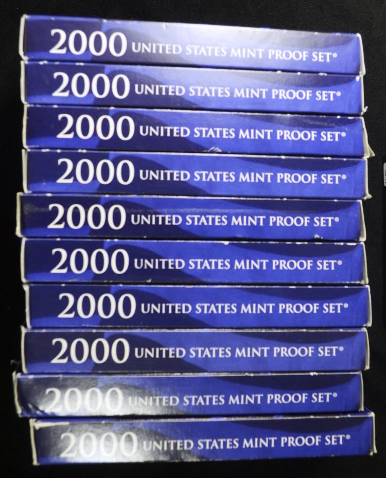 10 2000 United States Proof Sets