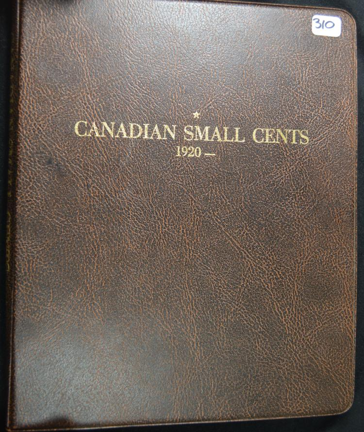 Partial set Canadian Small Cents