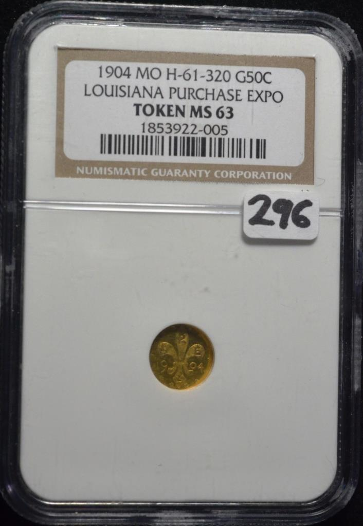 1904 Louisiana Purchase Expo Token MS63 NGC