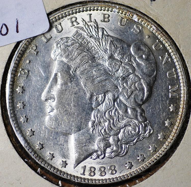 1888 O Morgan Silver Dollar Hot Lips