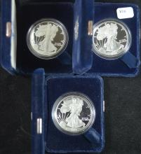 Lot of 3 Proof Silver Eagles 2004,05 and 06