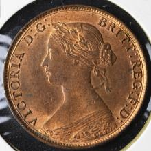 1861 Great Britain Half Penny