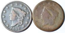 1817 & 1818 Matron Head Large Cent