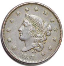 1837 Matron Head Large Cent variety