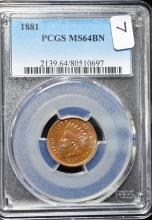 1881 Indian Head Cent MS64 PCGS
